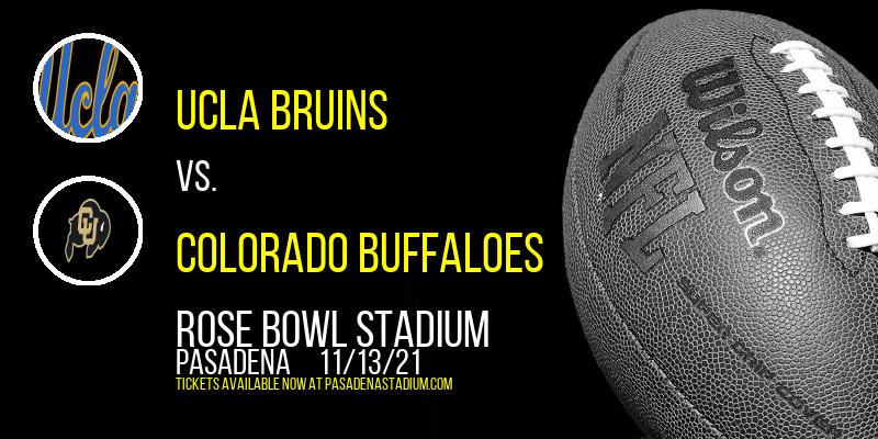 UCLA Bruins vs. Colorado Buffaloes at Rose Bowl Stadium